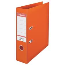 ESSELTE Iratrendező, 75 mm, A4, PP/PP, élvédő sínnel, ESSELTE Standard, narancssárga irattartó