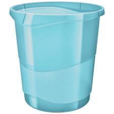 """ESSELTE Papírkosár, 14 liter,  """"Colour` Ice"""", áttetsző kék szemetes"""