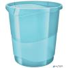 "ESSELTE Papírkosár, 14 liter, ESSELTE ""Colour' Ice"", áttetsző kék"