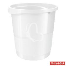 "ESSELTE Papírkosár, 14 liter, ESSELTE ""Europost"", Vivida fehér szemetes"