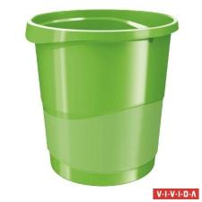 "ESSELTE Papírkosár, 14 liter, ESSELTE ""Europost"", Vivida zöld szemetes"