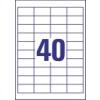 ETIKETT CÍMKE UNIVERZÁLIS 47,5x25,4 MM 40 DB/ÍV, 25 ÍV/CSOMAG