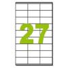 ETIKETT CÍMKE UNIVERZÁLIS 70X32 MM 27 DB/ÍV, 2700 DB/CSOMAG