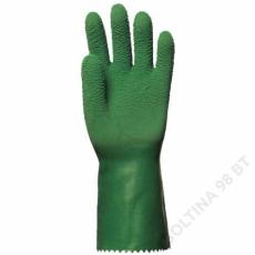 Euro Protection Mártott zöld krepp latex, érdes, csúszásálló, 32 cm -10