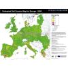 Európai Unió talajeróziós térképe angol nyelven fémléces