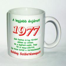 Évszámos bögre 38, 1977. ajándéktárgy