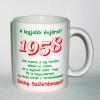 Évszámos bögre 57, 1958.
