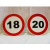 Évszámos sebességkorlátozó tábla 20 cm (80-as)