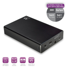 "Ewent EW7077 2, 5"" USB3.2 RAID SATA Dual HDD SSD Enclosure Black mobiltelefon kellék"