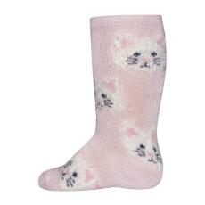 EWERS lány térdzokni macskás mintával, 16 - 17, rózsaszín