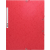 Exacompta Gumis mappa  piros A4  245g