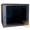 """Excel-Networking Excel WBFP18.6SGB 18U 600X600mm mély 19""""-os fali rack szekrény, fekete színben"""