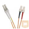Excel-Networking Optikai duplex patch kábel LC-SC 50/125 OM2 2m (200-173) EXCEL