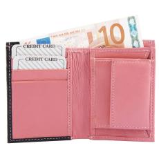 Excellanc Valódi Bőr Uniszex Mini Pénztárca (7x10), pink, Excellanc