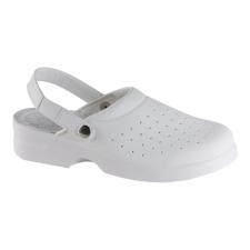 Exena Lisa OB E A SRC perforált sarokpántos fehér klumpa munkavédelmi cipő