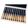 Extol Fafaragó készlet ; 12db, fanyelű, fa dobozban, crv, HRC 58-60 (Vésők)