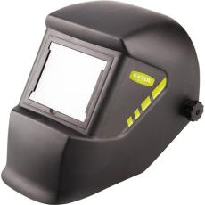 Extol hegesztőpajzs, fekete üveggel; DIN 13, UV/IR: DIN16, 100×85mm, 480g