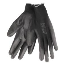 Extol Kötött kesztyű fekete poliészter, méret: 9` poliuretánba mártott teny. és ujj (Kesztyű)