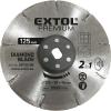 EXTOL PREMIUM_ EXTOL gyémántvágó korong 125×20mm, 2az1ben Twin Blade rendszer, kőhöz és csempéhez, 8893020 vágógéphez
