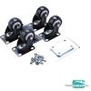 Extol PRÉMIUM fém alapzat kerék szett, 4 kerék, 2 fékezhető, L méretű tároló dobozhoz, 70×52mm, teherbírás 75kg