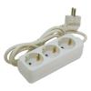 Extol villamos elosztó/hosszabbító, 3 aljzat, 5m kábel, földelt, 250V/10A; max: 2500W, Extol