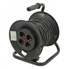 Extol villamos hosszabbító, dobra tekerve, 40m kábel, 4 db aljzat, 250V-10A; max: 2300W/920W, (1,0mm2) Extol hosszabbító, elosztó