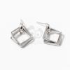 Ezüst bevonatos tripla négyszög beszúrós fülbevaló jwr-1385
