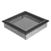 Ezüst - Fekete Szellőzőrács Oscar 22x22