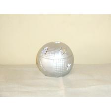 Ezüst színű gömb mécsestartó ajándéktárgy