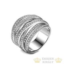 Ezüst színű gyűrű cirkónia kövekkel, 9 gyűrű