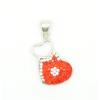 Ezüst szív medál piros színben Svarovski kristályokkal.