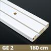 Fa betétes műanyag karnis (GE2) - 2 soros - 180 cm