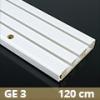 Fa betétes műanyag karnis (GE3) - 3 soros - 120 cm