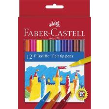 Faber-Castell Filctoll készlet, FABER-CASTELL, 12 különböző szín filctoll, marker