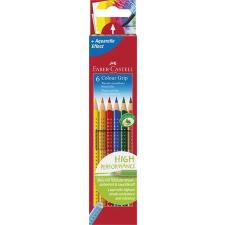"""Faber-Castell Színes ceruza készlet, háromszögletű, FABER-CASTELL """"Grip 2001"""", 6 különböző szín színes ceruza"""