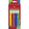 """Faber-Castell Színes ceruza készlet, háromszögletű, FABER-CASTELL \""""Jumbo\"""", 10 különböző szín [10 db]"""