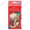 Faber-Castell színesceruza, 12 db + 1 grip grafitceruza