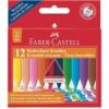 """Faber-Castell Zsírkréta, háromszögletű, FABER-CASTELL \""""Grip\"""", 12 különböző szín [12 db]"""