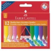 """Faber-Castell Zsírkréta, háromszögletű, FABER-CASTELL \""""Jumbo Grip\"""", 12 különböző szín [12 db]"""