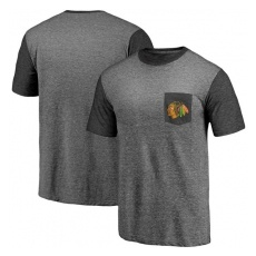 Fanatics Apparel Chicago Blackhawks FĂŠrfi póló Refresh Tri-Blend Pocket - XXXL