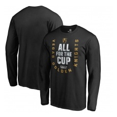 Fanatics Apparel Vegas Golden Knights fĂŠrfi póló 2018 Stanley Cup Playoffs Bound Behind The Net - M