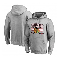 Fanatics Branded Chicago Blackhawks fĂŠrfi kapucnis pulóver grey Hometown Collection - L