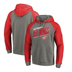 Fanatics Branded Detroit Red Wings fĂŠrfi kapucnis pulóver Slant Strike Hoodie Tri-Blend - L