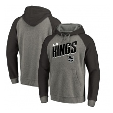 Fanatics Branded Los Angeles Kings fĂŠrfi kapucnis pulóver Grey Slant Strike Hoodie Tri-Blend - L