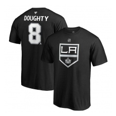 Fanatics Branded Los Angeles Kings fĂŠrfi póló black #8 Drew Doughty Stack Logo Name & Number - S