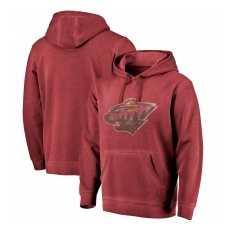 Fanatics Branded Minnesota Wild fĂŠrfi kapucnis pulóver red Shadow Washed Logo - XXXL