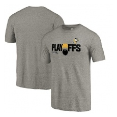Fanatics Branded Pittsburgh Penguins fĂŠrfi póló grey 2018 Stanley Cup Playoffs Bound Team Favorite - XXL