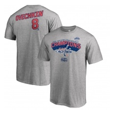 Fanatics Branded Washington Capitals fĂŠrfi póló grey Alex Ovechkin 2018 Eastern Conference Champions - M