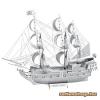 Fascinations Metal Earth ICONX Fekete Gyöngy vitorlás hajó