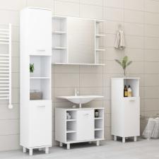Fehér forgácslap fürdőszobaszekrény 30 x 30 x 179 cm bútor